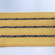 画像2: 屋冨祖さんの首里花織・四寸半巾帯「さとうきび畑」 (2)