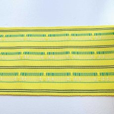画像2: 大串さんの首里道屯織・四寸半巾帯「ハイビスカス」 (2)