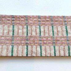 画像2: スワセンイさんの半幅帯【紬さがの】白×ミントグリーン (2)